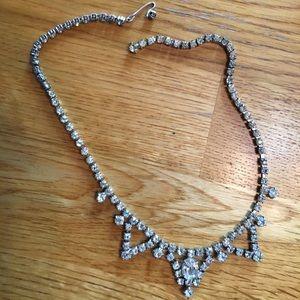 Jewelry - Vintage rhinestone choker